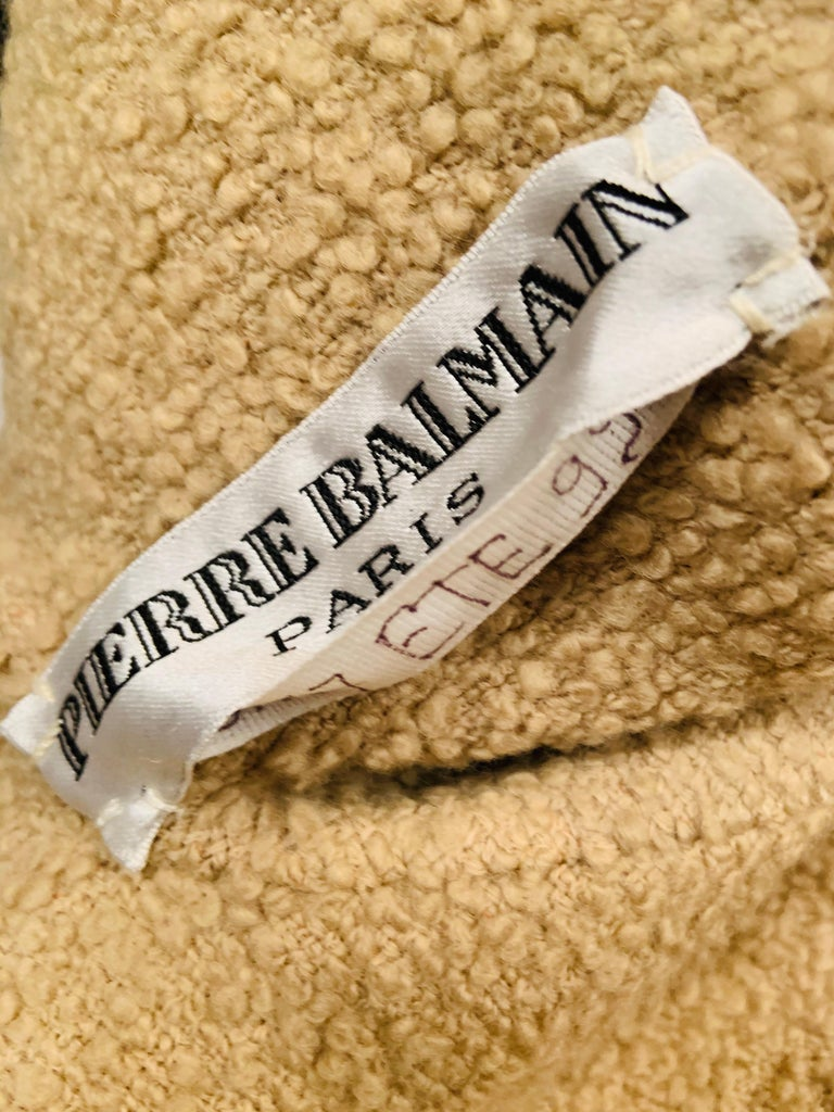 Balmain Haute Couture Jacket in Double Faced Wool and Pants in Herringbone Wool For Sale 4