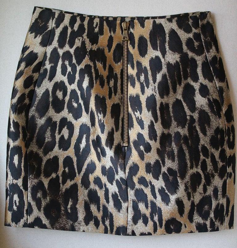 817a83926 Balmain Leopard-Jacquard Mini Skirt For Sale at 1stdibs