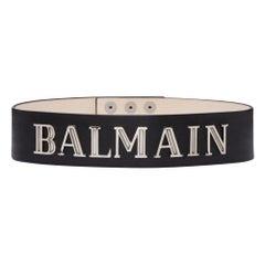 Balmain Logo Embellished Leather Waist Belt