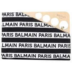 Balmain Logo Print Cerniere Hand Bag