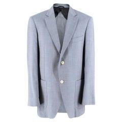 Balmain Men's Blue Wool Blend Blazer - Size EU 50