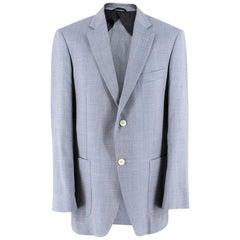 Balmain Men's Blue Wool Blend Blazer - Size Large - EU 50