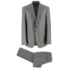 Balmain Men's Grey Check Slim Fit Suit SIZE - L EU 50