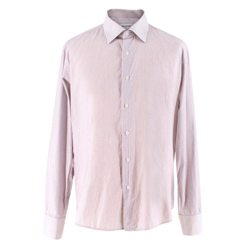 8eb7273c Balmain Men's Striped Cotton Shirt XL For Sale at 1stdibs