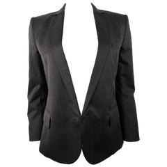 Balmain Paris Black Tuxedo Blazer Jacket Size 40