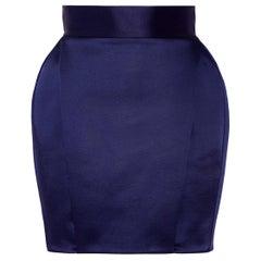 Balmain Pleated Satin Mini Skirt