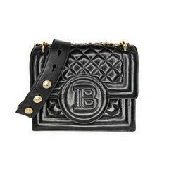 Balmain Quilted Lambskin Leather B-Bag 21 Crossbody