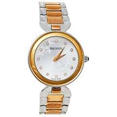 Balmain Silver Two-Tone Stainless Steel Lady II 4898 Women's Wristwatch 32 mm