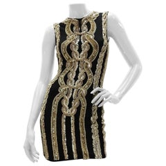 Balmain Sleeveless Sequin-embellished Mini Dress