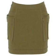 Balmain Stretch Cotton Twill Mini Skirt