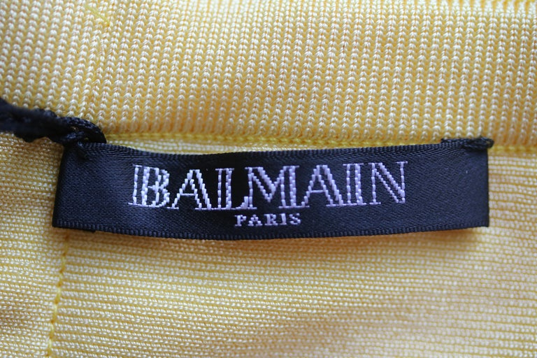 Balmain Stretch Knit Low Back Mini Dress In New Condition For Sale In London, GB