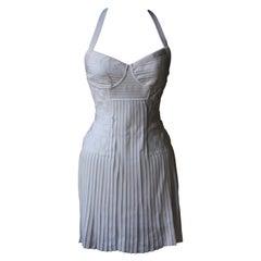 Balmain Stretch Knit Low Back Mini Dress
