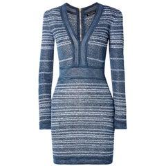 Balmain Stretch-Knit Mini Dress