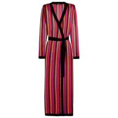 Balmain Striped Open-Knit Cardigan
