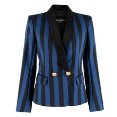 Balmain Striped Satin Blazer S
