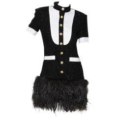 Balmain Tuxedo Mini Dress Pre-Fall2018