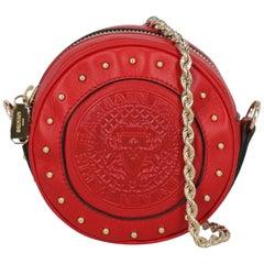 Balmain Woman Shoulder bag  Red Leather