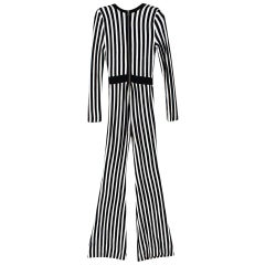 Balmain Wrap Effect Striped Jumpsuit - Worn by Alesha Dixon - Size Estimated S