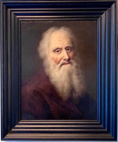 18th century German Portrait Painting - Hyperrealistic Old Master Philosopher