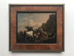 Follower of Balthazar Ommeganck , Dutch School, early 19th century, Shepherdess