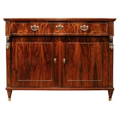 Baltic 19th Century Empire Style Rosewood and Mahogany Buffet