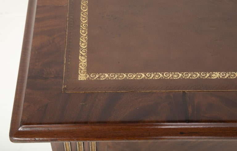 Baltic Mahogany Leather Top Writing Table For Sale 5