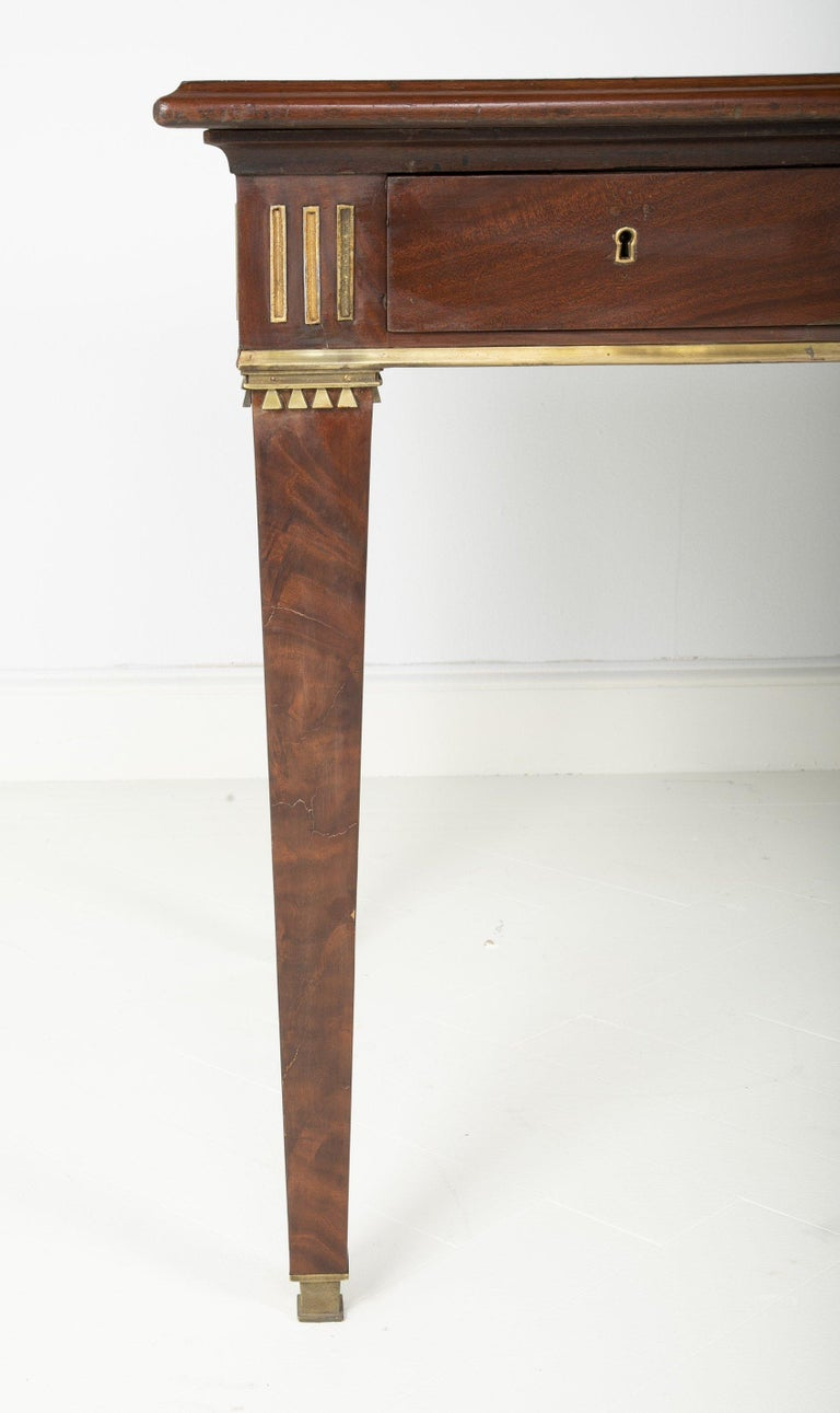 Early 19th Century Baltic Mahogany Leather Top Writing Table For Sale
