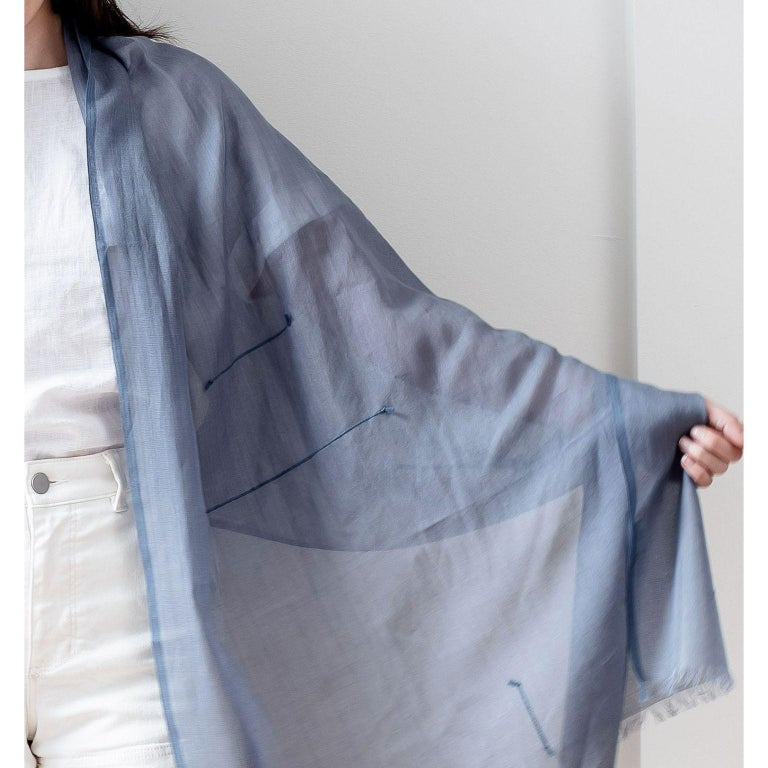 BALTIC MIST  Handloom Scarf / Wrap / Shawl For Sale 1