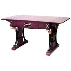 Baltic Neoclassic Parcel Gilt, Ebonized and Mahogany Sofa Table