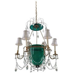 Baltic Neoclassical Style Crystal Chandelier