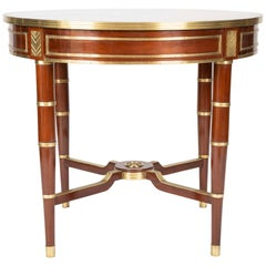 Baltic, Possibly Russian Neoclassic Mahogany Centre Table with Brass Mounts