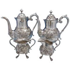 Baltimore Rose by Schofield Sterling Silver 4 Piece Tea Set #1295