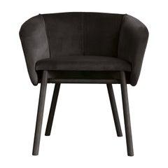 Balù Black Chair by Emilio Nanni