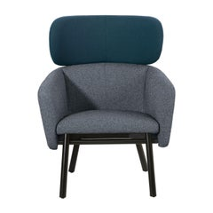 Balù Lounge Blue and Gray Chair By Emilio Nanni