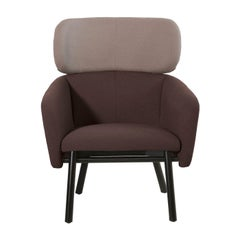 Balù Lounge Brown and Beige Chair by Emilio Nanni