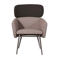 Balù XL Met Gray and Black Chair by Emilio Nanni