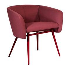 Balù Met Burgundy Chair By Emilio Nanni