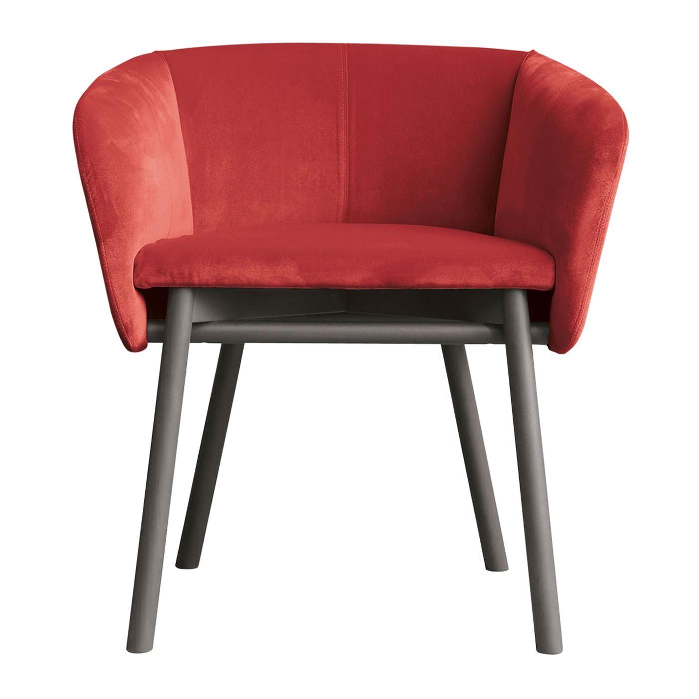 Balù Red Chair by Emilio Nanni