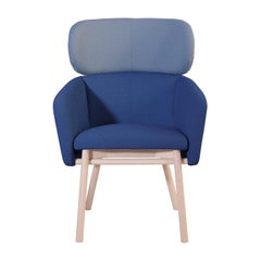 Balù Extra Large Blue and Lightblue Chair by Emilio Nanni