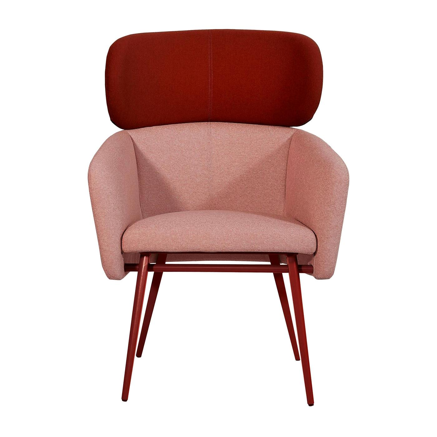 Balù Extra Large Met Pink and Burgundy Armchair by Emilio Nanni