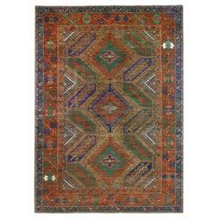 Baluchi Style Wool Area Rug