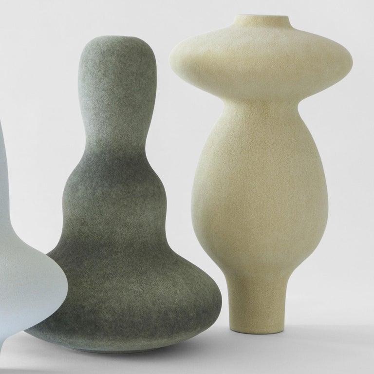 Modern Unique Ceramic Vases by Turi Heisselberg Pedersen For Sale