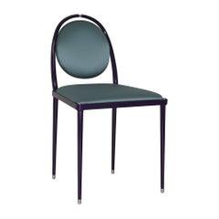 'Balzaretti' Chair in Petrolio Silk