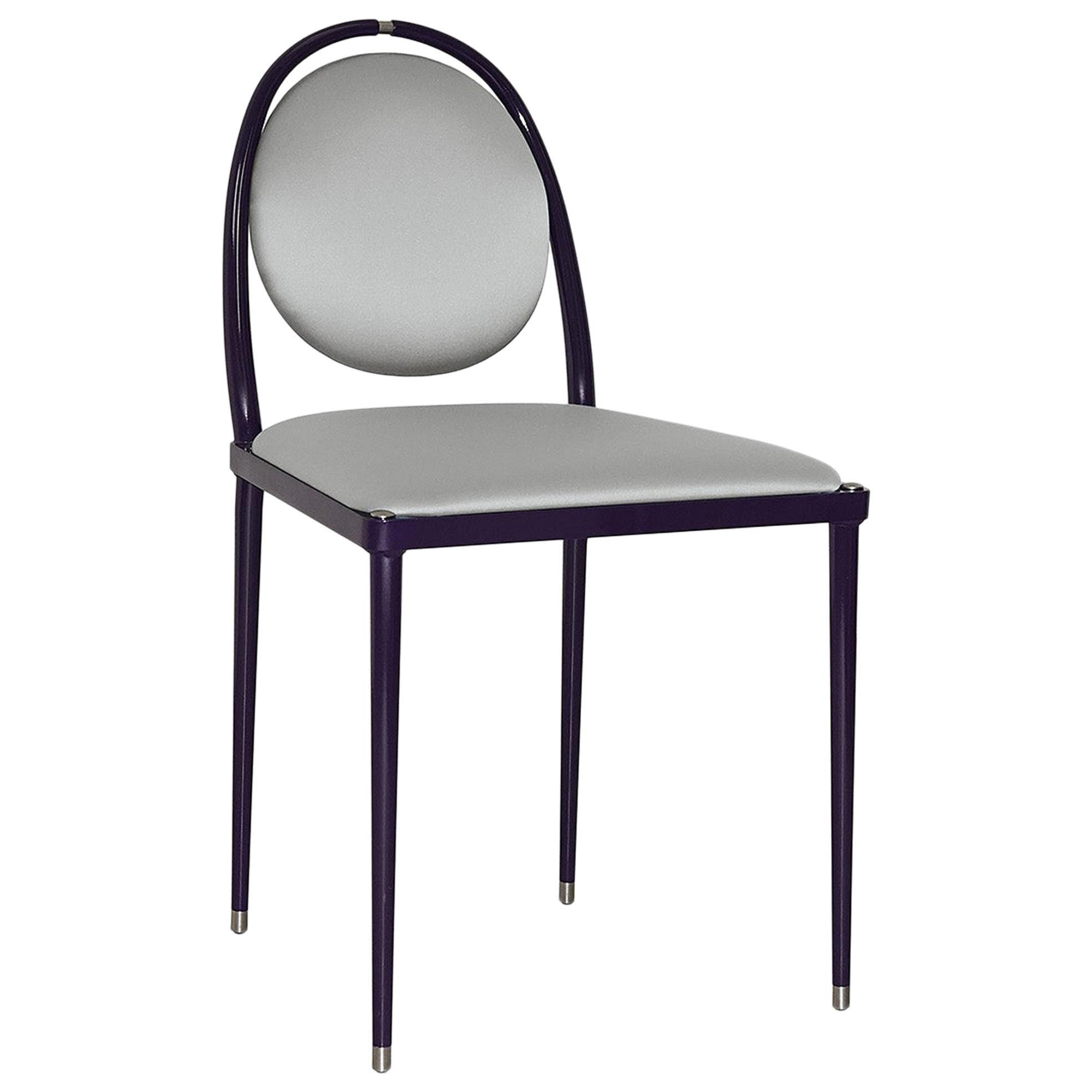 'Balzaretti' Chair in Silver Silk