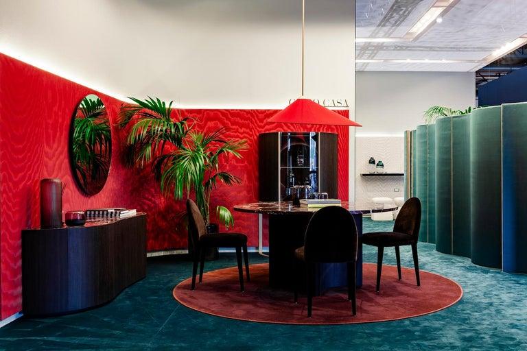 Upholstery 'Balzaretti' Mocha Brown Dining Chair For Sale