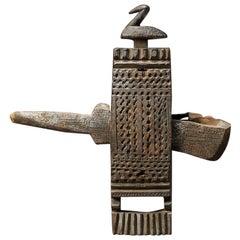 Bambara Tribal Door Lock with Bird Mali Africa Early 20th C Patina from Use