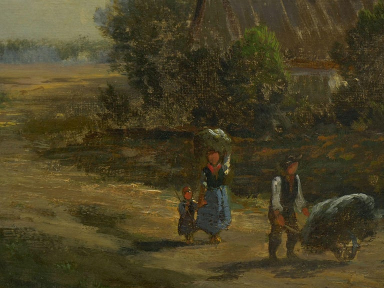 """""""Bamberg Bavaria"""" '1880' Antique Landscape Painting by Carl Weber 'American)' For Sale 3"""
