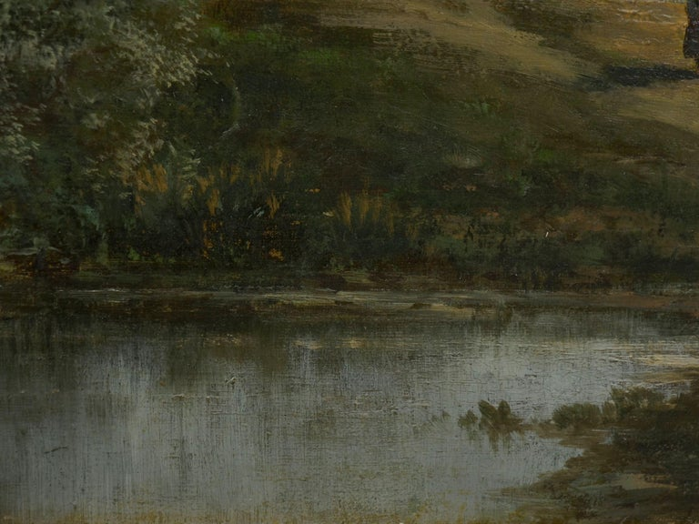"""""""Bamberg Bavaria"""" '1880' Antique Landscape Painting by Carl Weber 'American)' For Sale 4"""