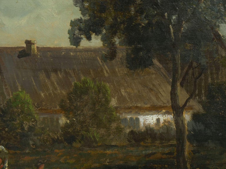 """""""Bamberg Bavaria"""" '1880' Antique Landscape Painting by Carl Weber 'American)' For Sale 5"""