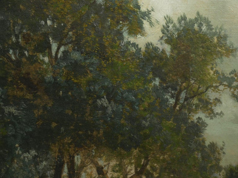 """""""Bamberg Bavaria"""" '1880' Antique Landscape Painting by Carl Weber 'American)' For Sale 6"""